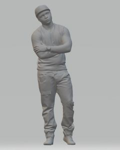 Model Figure of a Young Boy Standing (25 mm)