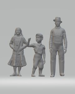 Model Figure  of a Family Group