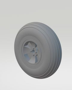 A pair of rubber 40mm dia Wheels